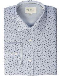 2f73264f737ae4 Ted Baker - Chardo Endurance Dress Shirt (grey) Men s Long Sleeve Button Up  -