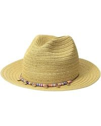 San Diego Hat Company - Ubf1107 Fedora With Multicolor Trim Gold Coins (black) Fedora Hats - Lyst
