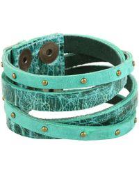 Leatherock - B453 (jade) Bracelet - Lyst
