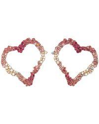 Betsey Johnson - Open Gypsy Heart Earrings (pink) Earring - Lyst