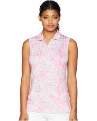 PUMA - Floral Sleeveless Polo (carmine Rose) Women's Sleeveless - Lyst