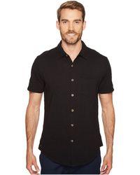Mod-o-doc - Montana Short Sleeve Button Front Shirt (swell Blue) Men's Short Sleeve Button Up - Lyst