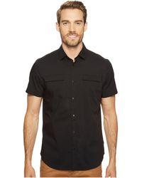 Calvin Klein - Stretch Poplin Button Down Shirt (black) Men's Short Sleeve Button Up - Lyst