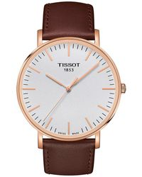 Tissot - Everytime Large - T1096103603100 (silver/brown) Watches - Lyst