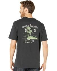 Tommy Bahama - Live The Palm Life Tee (coal) Men's T Shirt - Lyst