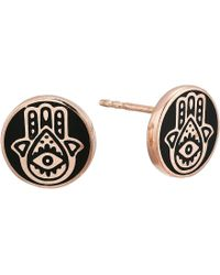 ALEX AND ANI - Hamsa Post Earrings - Precious Metal (14kt Rose Gold Plated) Earring - Lyst