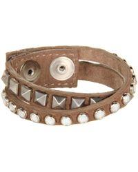 Leatherock - B337 (brown) Bracelet - Lyst