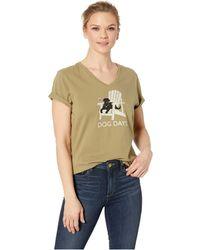 9a52bc41 Dog Days Crushertm Vee (fatigue Green) Women's T Shirt