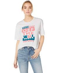 01a1dffcb3b746 Lyst - Vans Suma Time Crop Muscle (white) Women s Clothing in White