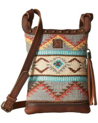 STS Ranchwear - The Classic Crossbody (tornado Brown/sedona Serape) Cross Body Handbags - Lyst