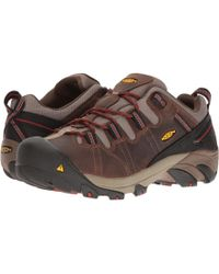 Keen Utility - Detroit Low Internal Met (brown/bossa Nova) Men's Work Pull-on Boots - Lyst
