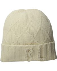 Polo Ralph Lauren - Chainstitch Rl Hat (cream) Beanies - Lyst