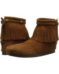 Minnetonka - Hi-top Back Zip Boot - Lyst