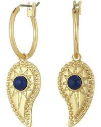 Rebecca Minkoff - Paisley Mini Hoop Earrings (gold) Earring - Lyst