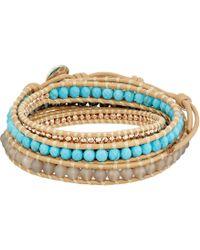 Chan Luu - Semi-precious 5 Wrap Bracelet (turquoise Mix) Bracelet - Lyst
