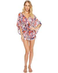 Luli Fama - Cienfuegos Cabana V-neck Dress Cover-up - Lyst