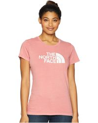 The North Face - Short Sleeve 1/2 Dome Pigment Crew Tee (faded Rose/tnf White) Women's T Shirt - Lyst