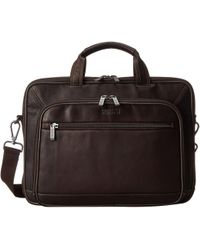 Kenneth Cole Reaction - A Golden Op-port-unity Colombian Leather Laptop Brief (brown) Briefcase Bags - Lyst