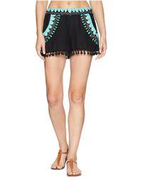 Trina Turk - Sunburst Tassel Shorts Cover-up - Lyst