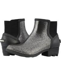 Sorel - Janeytm Chelsea (black/pure Silver) Women's Rain Boots - Lyst
