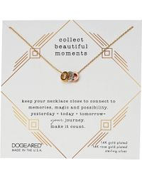 Dogeared - Collect Beautiful Moments, Trio Of Rondelle Beads Necklace (mixed) Necklace - Lyst