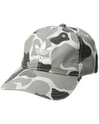 3ba43e0f11856 adidas Originals - Originals Relaxed Strapback Hat (black white Monogram)  Caps - Lyst