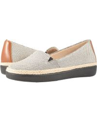 Trotters - Accent (black/rust Linen/smooth Man Made) Women's Slip On Shoes - Lyst