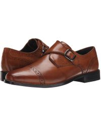 Nunn Bush - Newton Cap Toe Dress Casual Monk Strap (cognac) Men's Monkstrap Shoes - Lyst