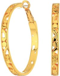 Brighton - Contempo Large Hoop Earrings - Lyst