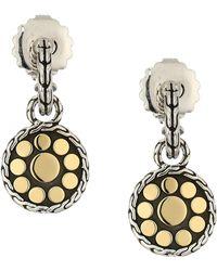John Hardy - Dot Drop Earrings In 18k Gold - Lyst