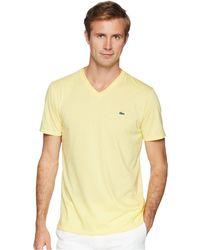Lacoste - Short Sleeve V-neck Pima Jersey Tee Shirt - Lyst