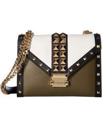 3100f916820b MICHAEL Michael Kors - Whitney Large Shoulder (olive Multi) Shoulder  Handbags - Lyst