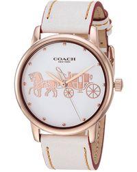 COACH - Grand - 14502973 (chalk) Watches - Lyst