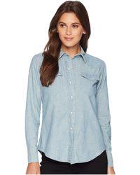 Lauren by Ralph Lauren - Chambray Western Shirt (sun Faded Wash) Women's Clothing - Lyst