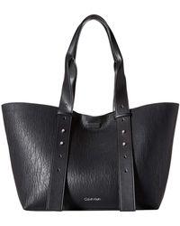 Calvin Klein - Jane Bubble Lamb East/west Tote (Luggage/Black) Tote Handbags - Lyst
