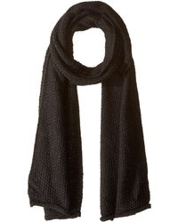 Rebecca Minkoff - Simple Solid Muffler (black) Scarves - Lyst
