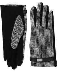 Lauren by Ralph Lauren - Menswear Pattern Metal Logo Touch Gloves - Lyst