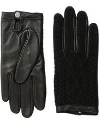 Lauren by Ralph Lauren - Aran Stitch Touch Gloves - Lyst