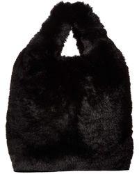 Hat Attack - Faux Fur Mini Handheld Clutch (black) Clutch Handbags - Lyst