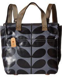 Orla Kiely - Shiny Laminated Solid Stem Print Small Backpack - Lyst