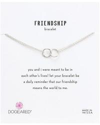 Dogeared - Friendship Double Linked Rings Chain Bracelet (gold Dipped) Bracelet - Lyst