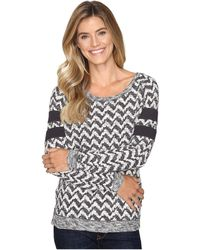 Cruel - Long Sleeve Patterned French Terry Pullover - Lyst