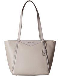 123ba83f87a4 MICHAEL Michael Kors - Whitney Large Top Zip Tote (pearl Grey) Tote  Handbags -