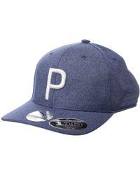 9e433ea7c10 PUMA - P 110 Snapback Cap (quarry quiet Shade) Baseball Caps - Lyst