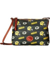 Dooney & Bourke - Nfl Nylon Crossbody Pouchette (navy/tan/broncos) Cross Body Handbags - Lyst