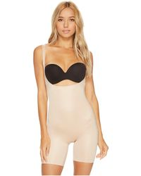 Spanx - Power Conceal-hertm Open-bust Mid-thigh Bodysuit (very Black) Women's Jumpsuit & Rompers One Piece - Lyst