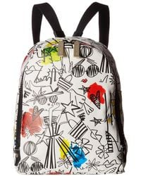 Alice + Olivia - Stace Face Graffiti Print Small Backpack - Lyst