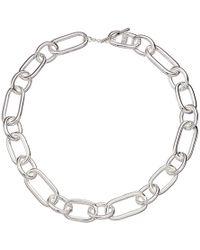Lauren by Ralph Lauren - 17 Link Collar Necklace (silver) Necklace - Lyst