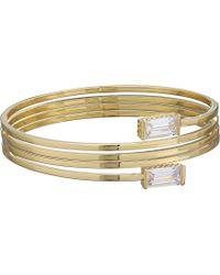 Cole Haan - 5 Coil Bracelet (gold/clear Cubic Zirconia) Bracelet - Lyst