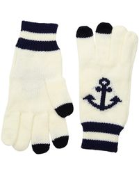 San Diego Hat Company - Kng3480 Knit Gloves With Anchor And Tech Fingertips (ivory) Dress Gloves - Lyst